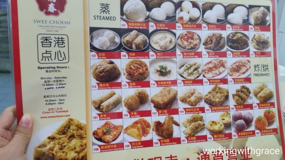 swee choon dim sum menu