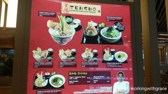 tensho by mof menu