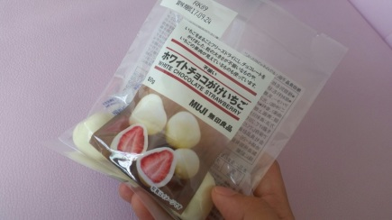 Muji White Chocolate Strawberry