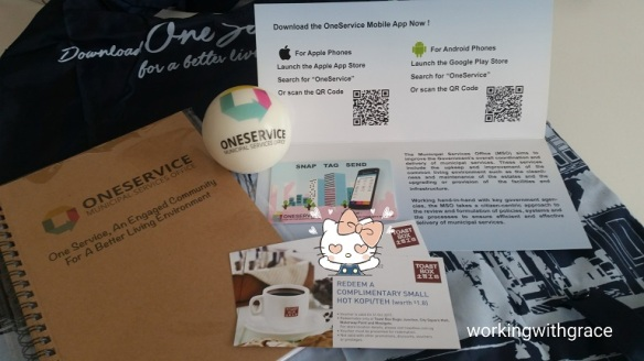 OneService app gifts