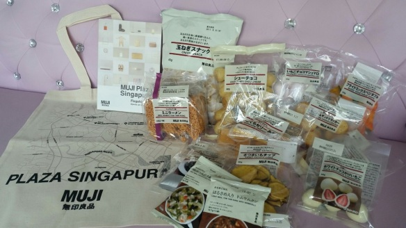 Snacks from Muji Singapore