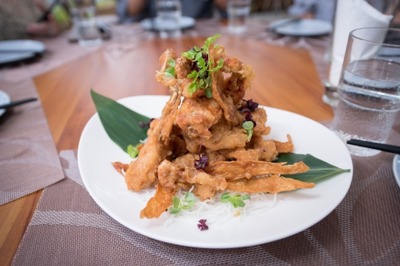 Crispy Bull Frog with Ginger