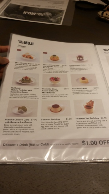muji cafe dessert