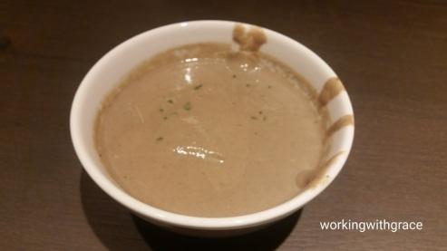 Muji cafe mushroom soup