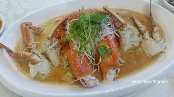 rong heng seafood steamed crab