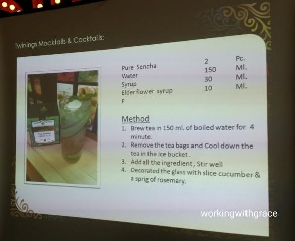 twinings mocktail recipe