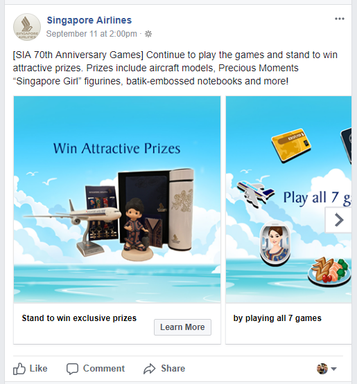 Singapore Airlines games