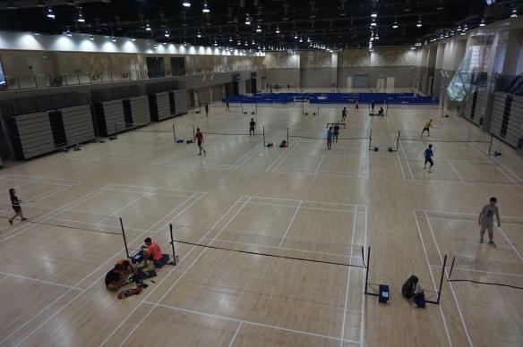 our tampines hub badminton hall