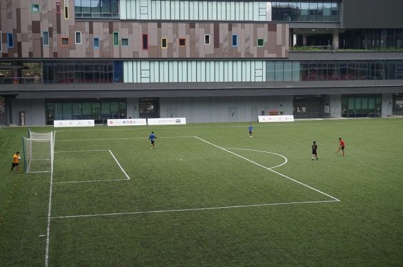 our tampines hub football field