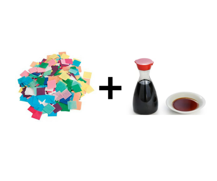 paper and soy sauce