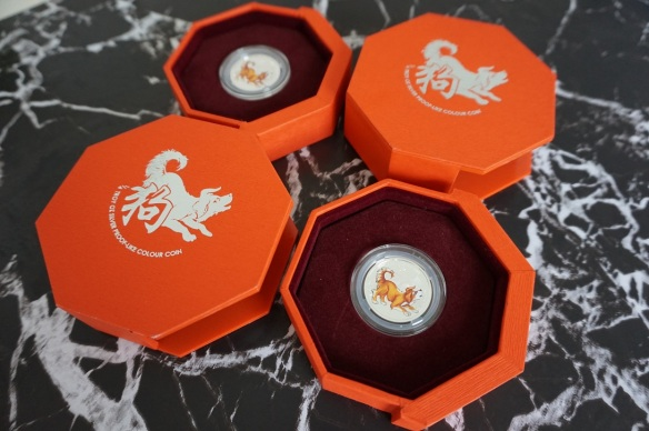 Singapore Mint year of the dog coins