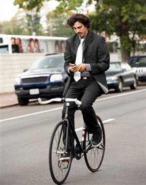 texting while cycling