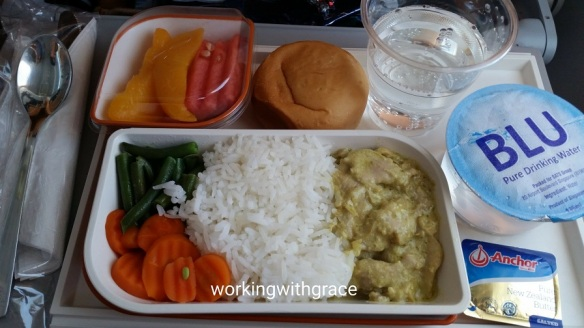 silkair inflight food
