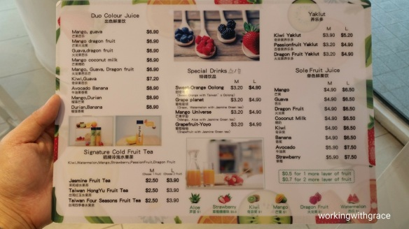 Hi-Fruit royal square menu
