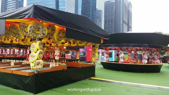 Prudential Marina Bay Carnival games stalls