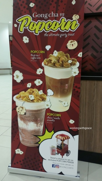 Gong cha popcorn Paradigm Mall