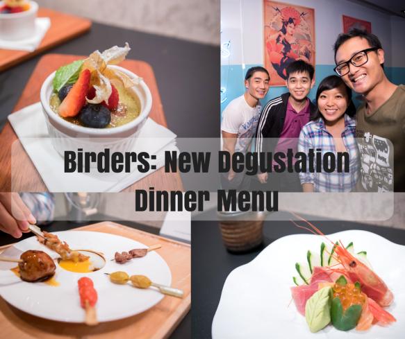 Birders Degustation Dinner Menu