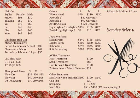 Belleza De Midori price menu