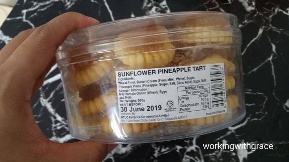 Sunflower Pineapple Tart