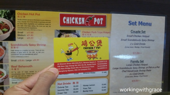 chicken hot pot menu