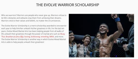 Evolve MMA Scholarship