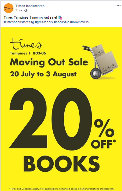 Times tampines 1 moving out sale