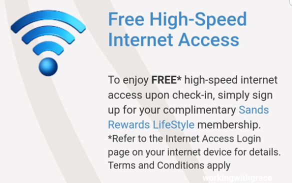 How to access marina bay sands wifi