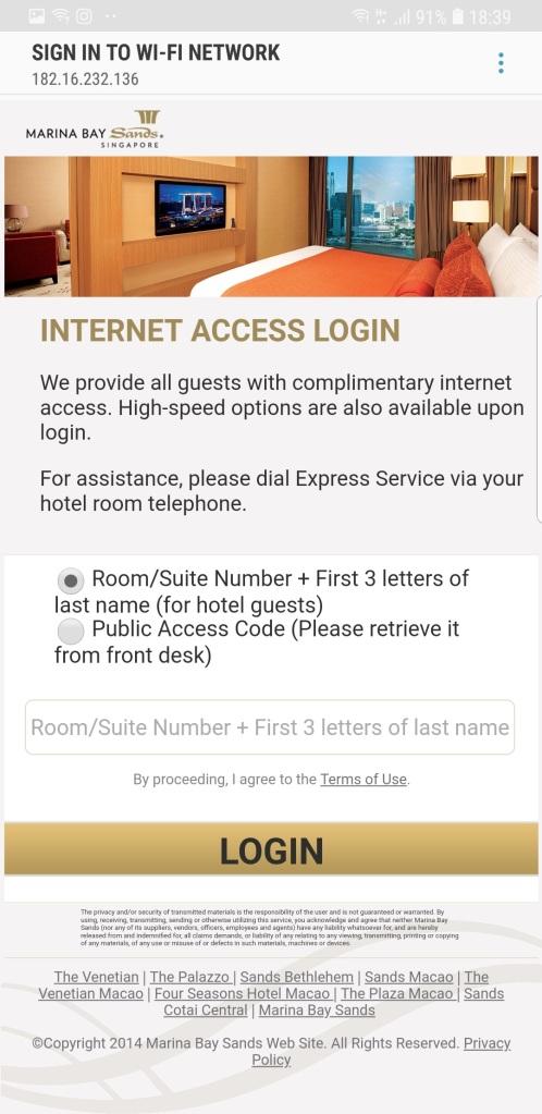 MBS Internet Access Login