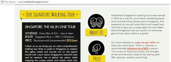 SneakPeek walking tour