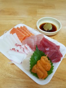 Sashimi at Makishi Market