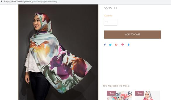 beautiful headscarf singapore