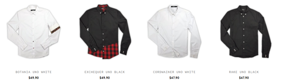 the blavk collared shirts