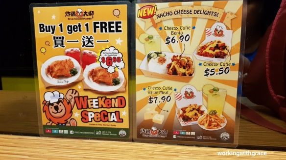 Fried Chicken Master Nex Menu