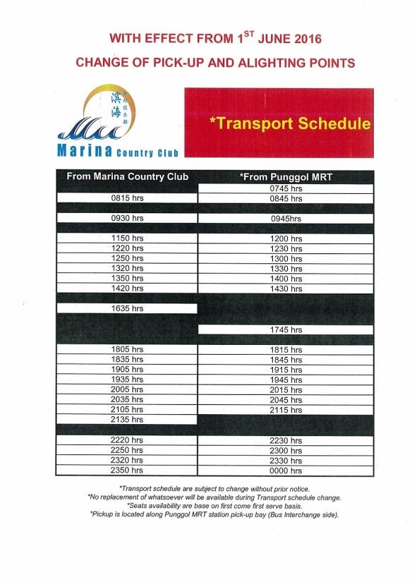 marina country club shuttle bus