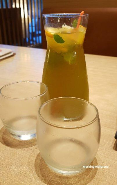 sushi tei pekanbaru drinks