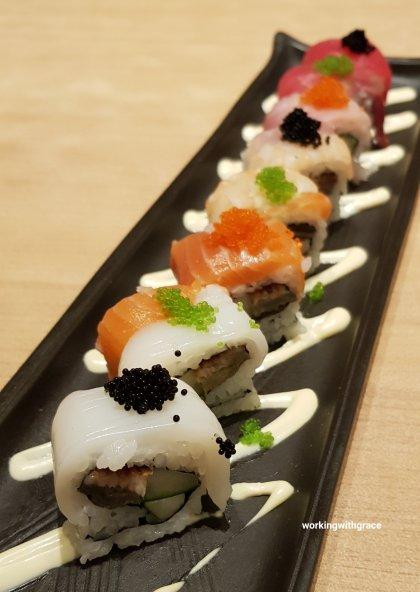 sushi tei pekanbaru rainbow roll