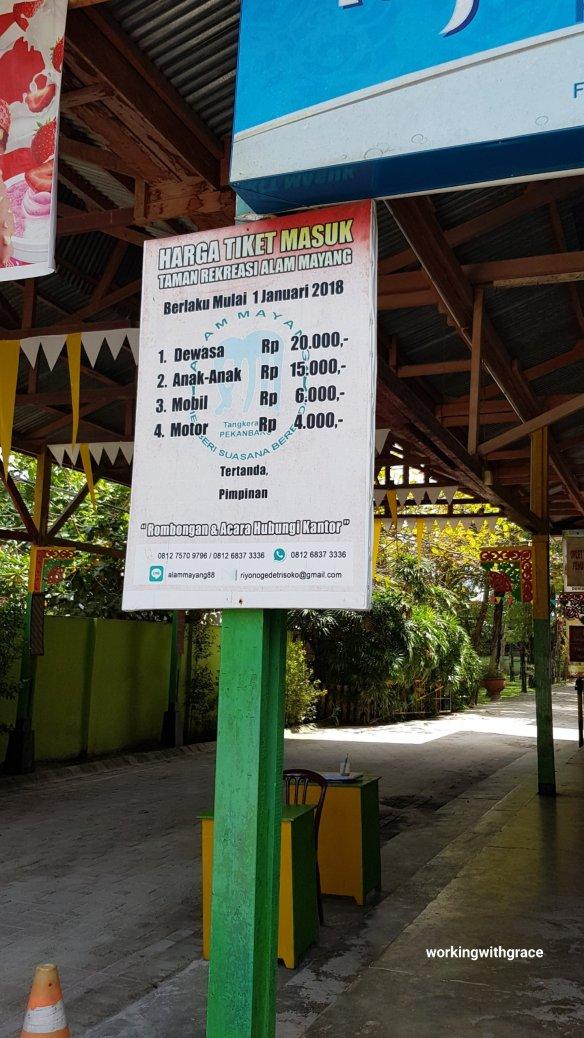 wisata alam mayang entrance fee