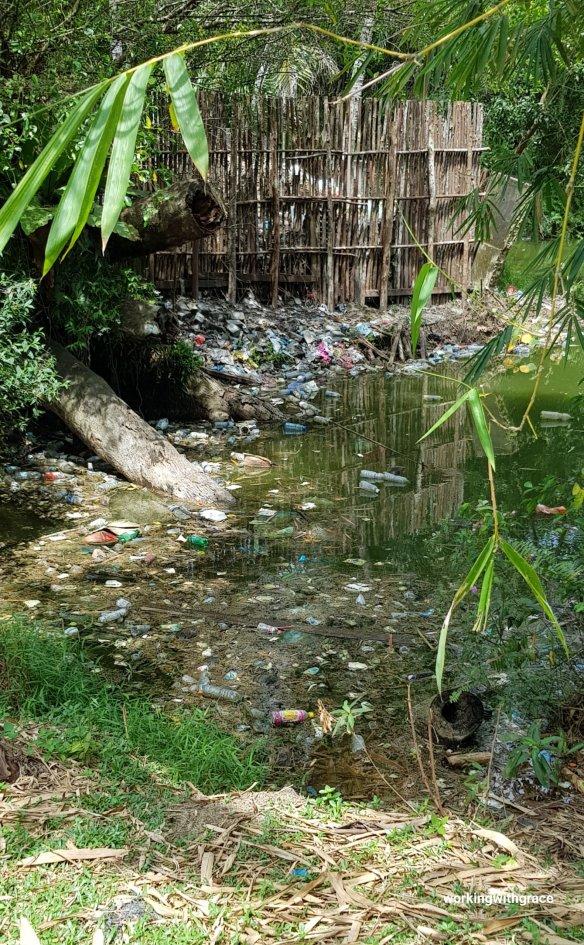 wisata alam mayang plastic trash