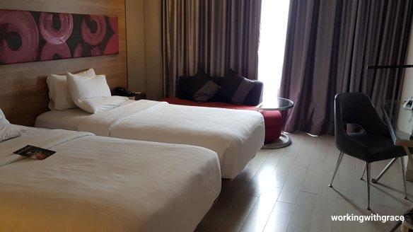 twin room novotel pekanbaru
