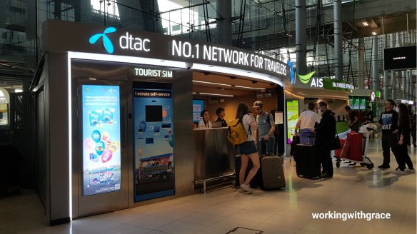 bangkok airport sim card