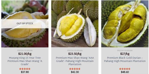 8 Durian 22 June 2020 price