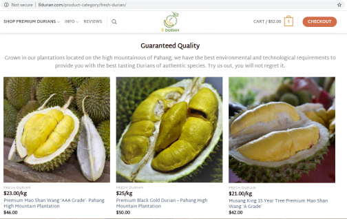 8 Durian Price