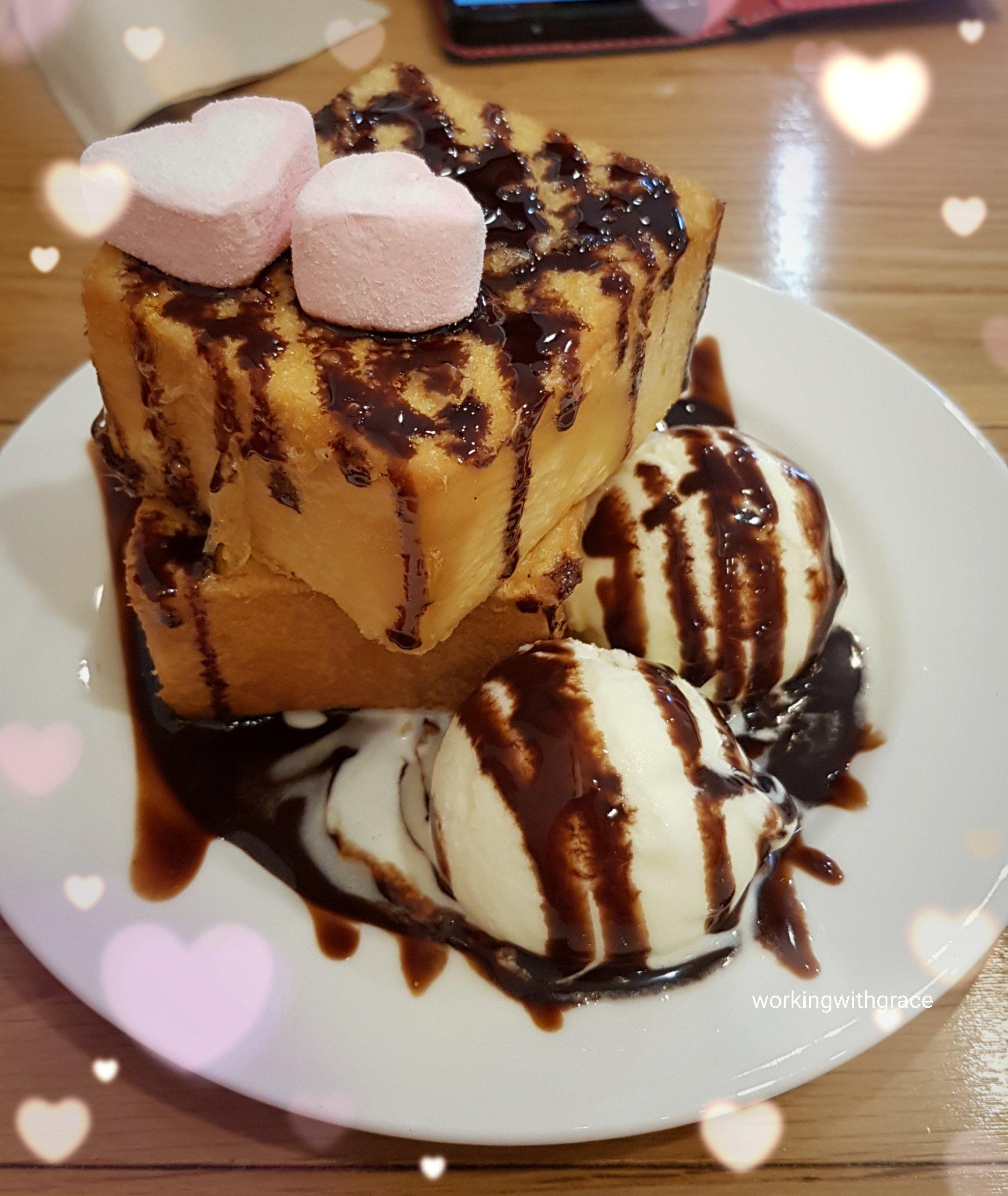 8 degrees taiwanese bistro ice cream toast