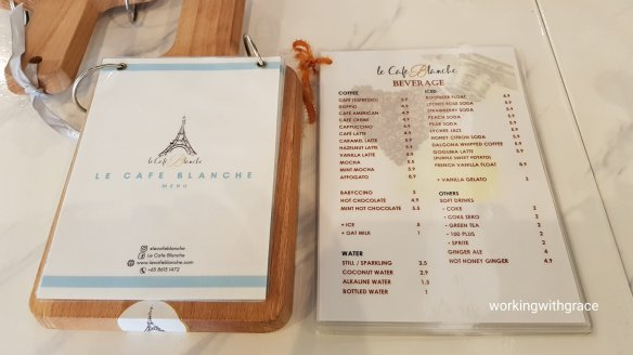 le cafe blanche menu