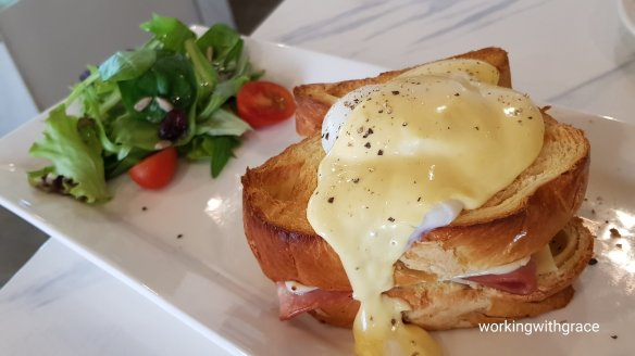 le cafe blanche croque madame